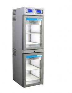 Medical-pharmaceutical refrigerator with 2 temperature ranges and 2 separate cooling systems 361 Litres TC802