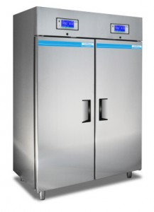 Medical-pharmaceutical refrigerator with 2 temperature ranges and 2 separate cooling systems 1000 Litres TC218-2