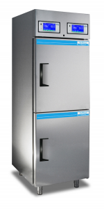 Medical-pharmaceutical refrigerator with 2 temperature ranges and 2 separate cooling systems 700 Litres TC217-2