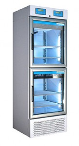Medical pharmaceutical refrigerator with 2 temperature ranges 600 Litres TC111